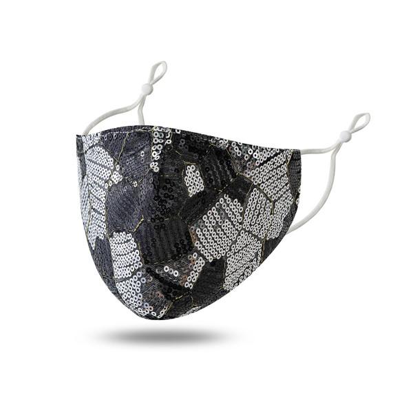Masque en tissu double couche à paillettes à la mode anti-poussière, écran solaire et masque anti-UV