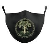 MOQ50大人の生命の木新しいカスタマイズされたデザインの3Dデジタル印刷保護マスクはPM2.5フィルター大人のフェイスマスクを置くことができます