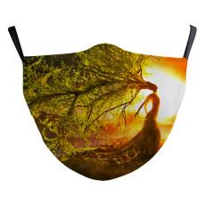 Árbol de la vida para adultos Nuevo diseño personalizado La máscara protectora de impresión digital 3D puede poner máscara facial para adultos con filtro PM2.5