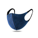 Персонализированная декоративная маска со стразами, модная красочная маска со стразами, защита от пыли и солнца, модная маска для лица