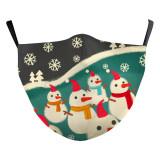 Noël adulte nouveau design personnalisé masque de protection d'impression numérique 3D peut mettre le masque PM2.5 filtre adulte