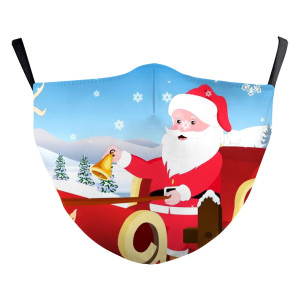 Adult Christmas New customized design 3D digital printing protective mask can put PM2.5 filter adult  face mask