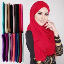 Одноцветный женский шарф осень-зима хлопковый шарф