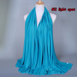 MOQ10 Одноцветный женский шарф осень-зима хлопковый шарф