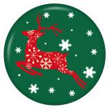 Navidad 20MM esmalte pintado con estampado de metal broches de presión
