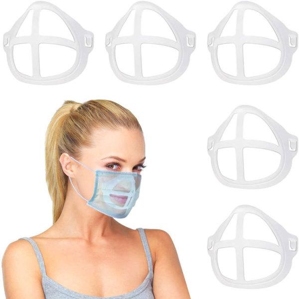 L'artefact de support 3D du support de masque peut être remplacé et lavé de manière confortable, respirante et sans rouge à lèvres