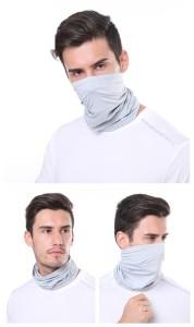 Máscara facial para exteriores, polainas para el cuello, deportes, montañismo, a prueba de insectos, sombrilla, sombrero, bufanda mágica