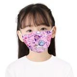 MOQ10 Children 3D digital printing protective mask can put PM2.5 filter face mask