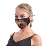 MOQ10 3D printing animal rope adjustable cotton face mask washable