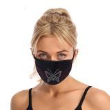 Пылезащитная модная цветная алмазная хлопчатобумажная ткань со стразовой маской для лица