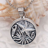 20MM Starfish snap Silver Plated  snaps jewelry