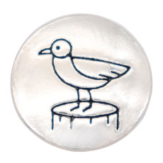 20MM bird snap Silver Plated  snaps jewelry