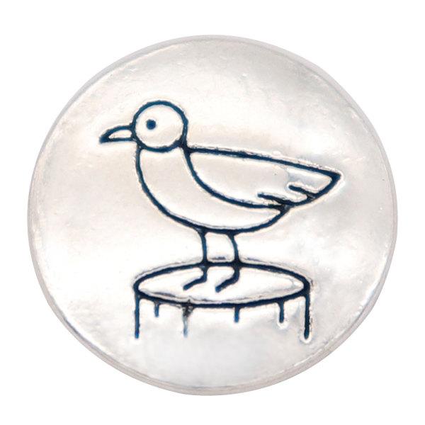 Broches de presión chapados en plata con broche de pájaro de 20 mm