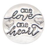 20MM Love Snap Bijoux à boutons-pression plaqués argent