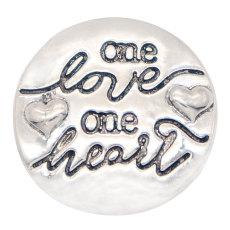 20MM love snap joyas chapadas en plata