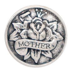 Joyas de broches chapados en plata con broche de madre de 20 mm