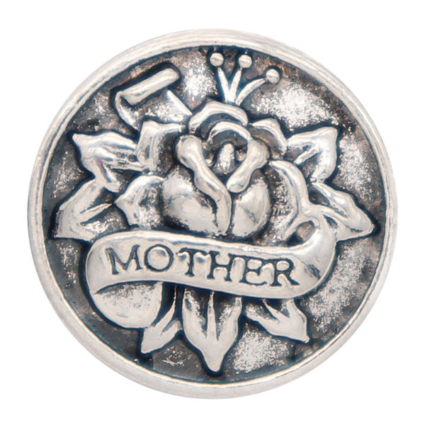 20MM mother snap Silver Plated  snaps jewelry
