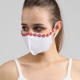 Tissu de coton à la mode de diamant de couleur de preuve de poussière avec le masque de visage de strass