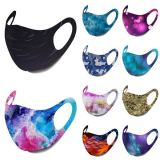 Washable and dustproof pad dyeing protective color ice silk mask