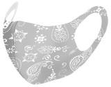 Моющаяся и пылезащитная подушка для окрашивания защитной цветной маски из шелка льда
