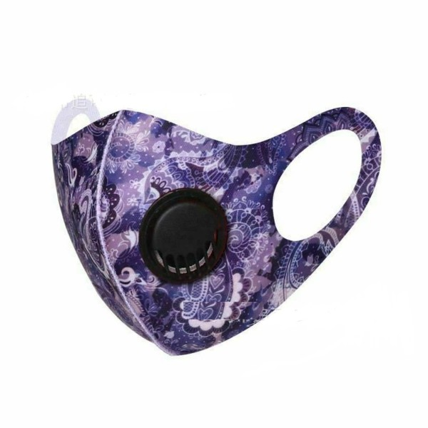 MOQ10 With breathing valve Washable and dustproof pad dyeing protective color ice silk mask