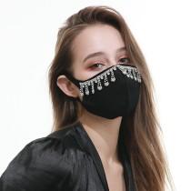 防塵ファッショナブルなカラーダイヤモンドコットンクロスラインストーンフェイスマスク