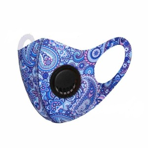 With breathing valve Washable and dustproof pad dyeing protective color ice silk mask
