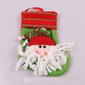 Adornos navideños Colgante de árbol de Navidad Bolsa de regalo de calcetín Colgante de Navidad Papá Noel Muñeco de nieve calcetines pequeños