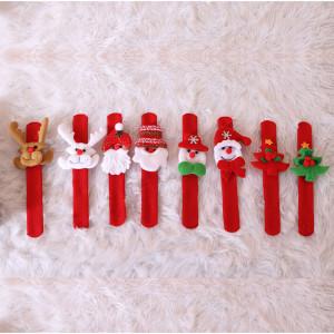 クリスマスパットリングサンタ手首飾りおもちゃクラップリング(ランダムにXNUMXつのスタイル)