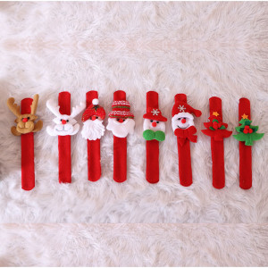 Anillo de palmaditas navideñas Anillo de palmada de juguete de adorno de muñeca de Santa (Dos estilos al azar)