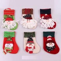 Décorations de Noël Sapin de Noël suspendu Bas sac cadeau Noël suspendu Père Noël Bonhomme de neige petites chaussettes