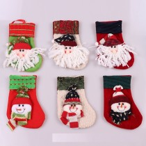 Christmas decorations Christmas tree hanging Stocking gift bag Christmas hanging Santa Claus Snowman little socks