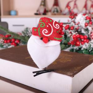 クリスマスオーナメントサンタクローススノーマンエルククリスマスヘアピンフェルトクリスマスヘッドドレスヘアピン