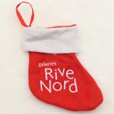 Décorations de Noël Père Noël petites chaussettes Pendentif arbre de Noël Chaussettes de Noël Sac cadeau décorations chaussettes