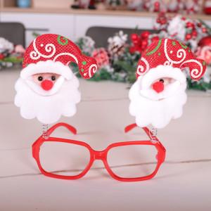 Decoraciones navideñas con personalidad Marco de gafas navideñas para niños adultos juguetes de dibujos animados disfrazados regalos