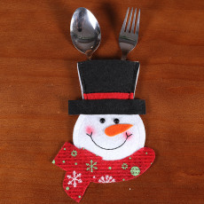 Christmas Knife and Fork Bag Hotel Restaurant Christmas Decorations creative cartoon Santa Cute knife and fork cutlery set