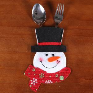 クリスマスナイフとフォークバッグホテルレストランクリスマスデコレーションクリエイティブ漫画サンタかわいいナイフとフォークカトラリーセット