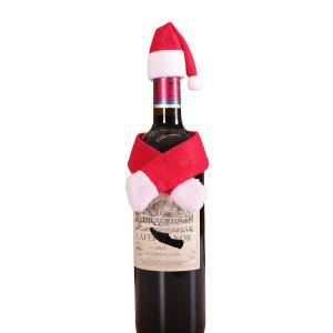 Decoración navideña juego de botellas de vino sombrero de Papá Noel decoraciones de corcho de vino hotel mesa familiar vestir