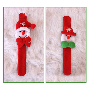 Christmas pat ring Santa wrist ornament toy clap ring (Two styles at random)