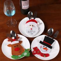 Couteau de Noël et sac de fourchette Hôtel Restaurant décorations de Noël dessin animé créatif Santa mignon couteau et fourchette ensemble de couverts