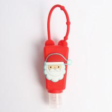 MOQ10 30ML Christmas se puede poner en perfume líquido para lavado de manos y otras fundas redondas de silicona (con botellas)