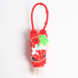 MOQ10 30ML Christmas can be put on hand washing liquid perfume and other round silicone sleeves (with bottles)