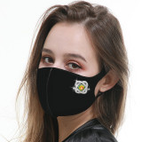 MOQ10 Fashion Face mask with Snap buttons (on left side) changeable, breathable and washable