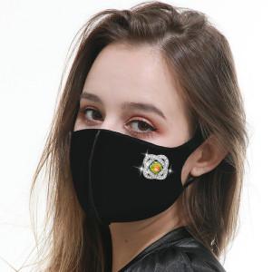 Модная маска для лица с кнопками (на левой стороне), сменная, дышащая и моющаяся