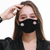 Two Snap buttons Face mask Mask fashion, dustproof, antifouling, haze proof, breathable and washable