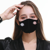 XNUMXつのスナップボタンフェイスマスクマスクファッション、防塵、防汚、ヘイズ防止、通気性、洗濯可能