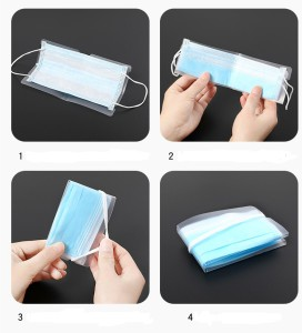 MOQ50使い捨てマスククリップ一時クリップ一時マスク保管保護カバー洗える保管クリップ
