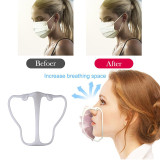 MOQ50 Ventilation support of adult mask plastic support of anti stuffy mask