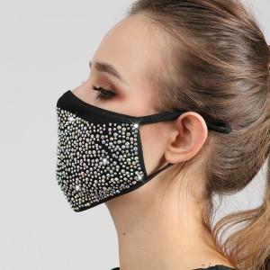 Staubdichtes, modisches Diamant-Baumwolltuch mit Strass-Gesichtsmaske