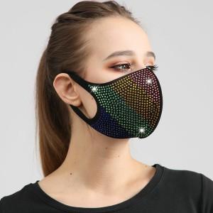 Tela de algodón de diamantes de color a prueba de polvo con mascarilla